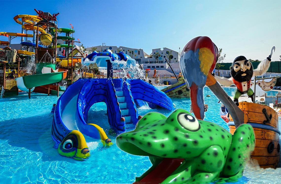 Schwimmbäder, Schwimmbecken und Kinderwasserrutschen